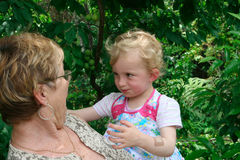 Grandmother and grandchild. Royalty Free Stock Photos