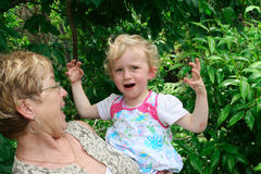 Grandmother and grandchild. Royalty Free Stock Images