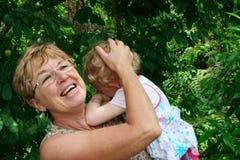 Grandmother and grandchild. Stock Photos