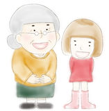 Grandmother and Grandchild Royalty Free Stock Image