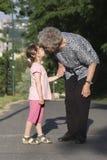Grandmother and grandchild Stock Image