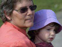 Grandmother and grandchild. Stock Photo