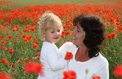 Grandmother with grandchild Royalty Free Stock Images