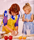 Grandmother and grandchild baking cookies Royalty Free Stock Photography