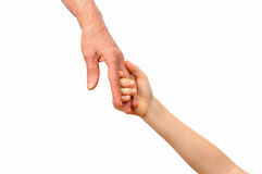 Grandmother and grandchild holding hands Royalty Free Stock Image