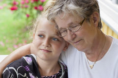 Grandmother and grandchild Royalty Free Stock Images
