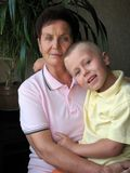 Grandmother and grandchild portrait Royalty Free Stock Photo