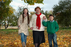 Grandmother with grandchildren Royalty Free Stock Image