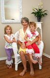 Grandmother and Grandchildren Stock Photo