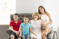 Grandmother and grandchildren royalty free stock photo
