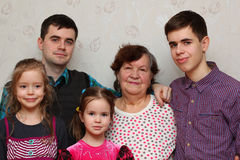 Grandmother and grandchildren Royalty Free Stock Photography