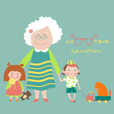 Grandmother with grandchildren Stock Photography