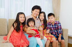 Grandmother and grandchildren Royalty Free Stock Photos