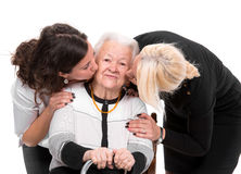 Grandmother with grandchildren Royalty Free Stock Photos