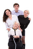 Grandmother with grandchildren Royalty Free Stock Images