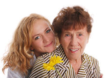 Grandmother with granddaughter Royalty Free Stock Photos
