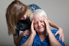 Grandmother and granddaughter Stock Photos