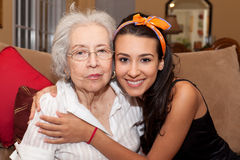 Grandmother and Granddaughter Stock Photography
