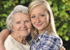 Grandmother with granddaughter. Royalty Free Stock Photography