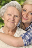 Grandmother with granddaughter. Royalty Free Stock Photos