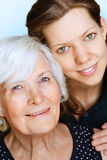 Grandmother and Granddaughter Royalty Free Stock Photos