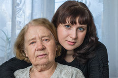 The grandmother and the granddaughter Royalty Free Stock Photography