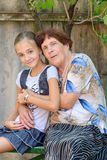 The grandmother with  granddaughter Royalty Free Stock Images