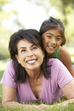 Grandmother With Granddaughter In Park Royalty Free Stock Image