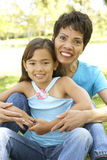 Grandmother With Granddaughter In Park Stock Image