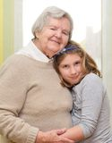 Grandmother with granddaughter. Stock Photos