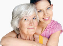 Grandmother and granddaughter portrait Royalty Free Stock Photography