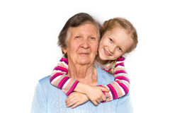 Grandmother and granddaughter Royalty Free Stock Images