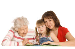 Grandmother with granddaughter read the book Royalty Free Stock Photography