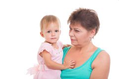 Grandmother and granddaughter Royalty Free Stock Photography