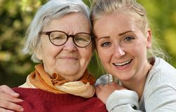 Grandmother and granddaughter. Royalty Free Stock Image