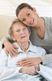 Grandmother and granddaughter. Royalty Free Stock Images