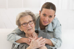 Grandmother and granddaughter. Royalty Free Stock Photography