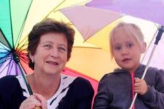 Grandmother with granddauhter Stock Photos