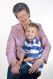 Grandmother with grandson. Royalty Free Stock Photo