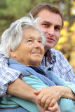 Grandmother and grandson Royalty Free Stock Photos