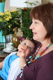 Grandmother and grandson Royalty Free Stock Photography