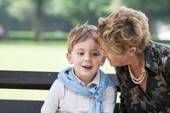 Grandmother and grandson Stock Image
