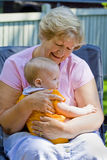 Grandmother with Grandson Stock Photo
