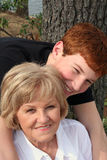Grandmother and Grandson. Showing affection Royalty Free Stock Photos