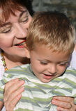 Grandmother and Grandson Stock Photos