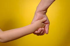 Grandmother and grandson holding hands Stock Photography