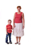 Grandmother and grandson together Stock Photography