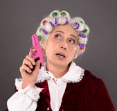Grandmother with gun Royalty Free Stock Image