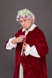 Grandmother with gun Stock Image