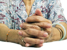Grandmother Hand Stock Photo